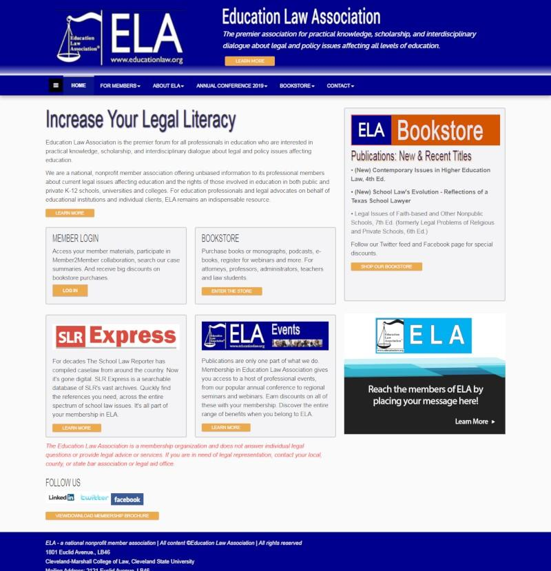 Web design for Education Law Association
