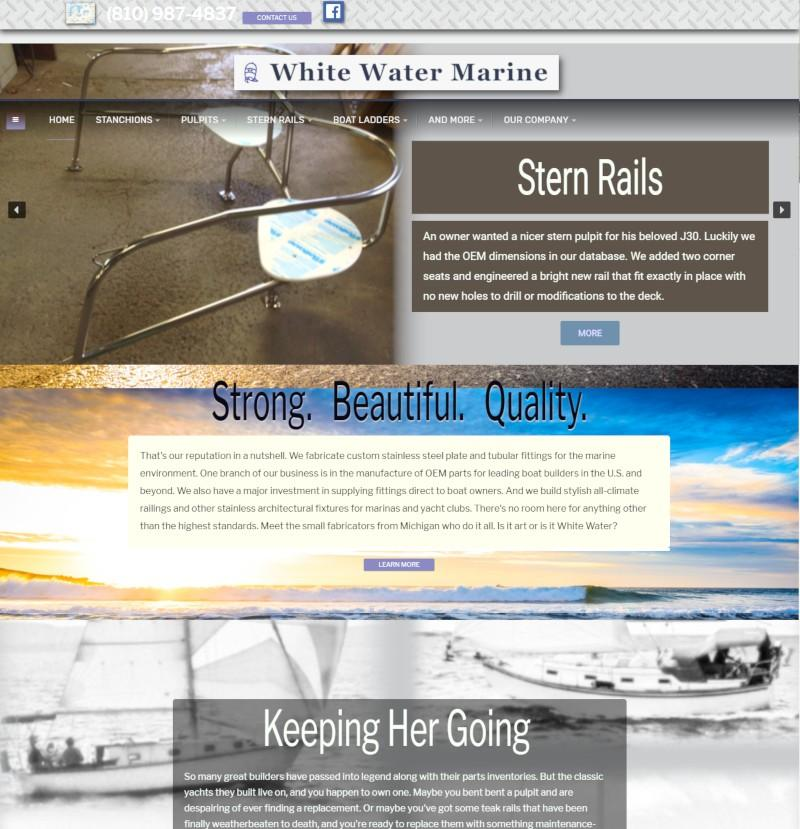 Web design for White Water Marine