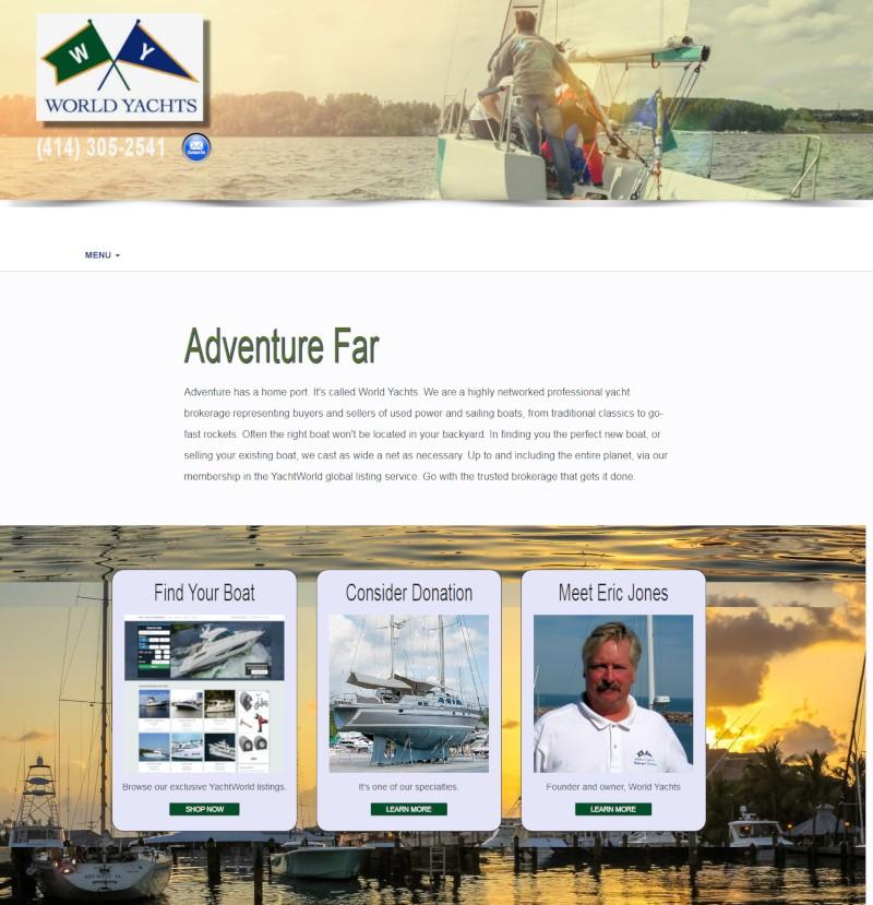 Web design for world yachts